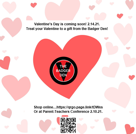 The Badger Den Valentine's Day Sale