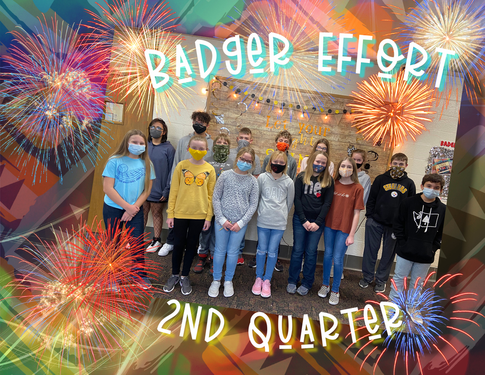 VMS 2nd QUARTER BADGER EFFORT AWARDS