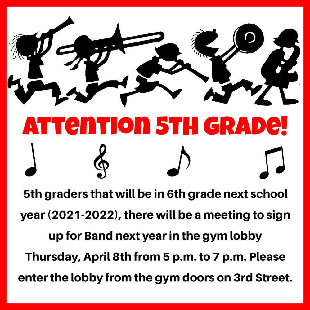Attention 5th Grade!