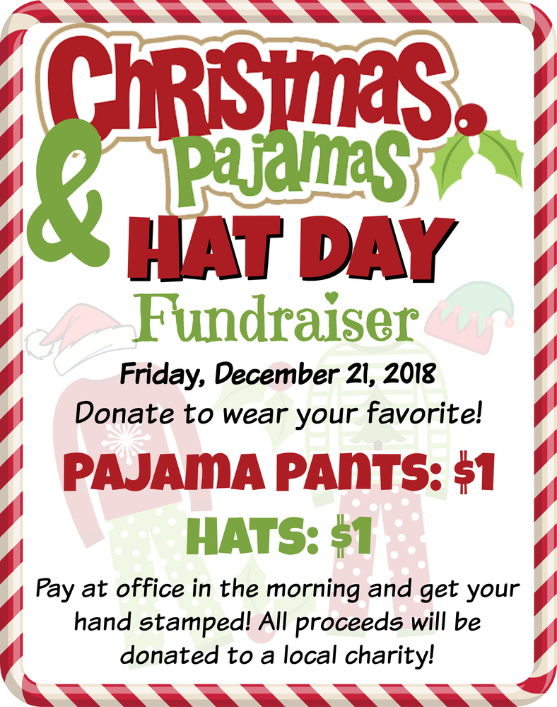 VMS Christmas Pajamas & Hat Day Fundraiser