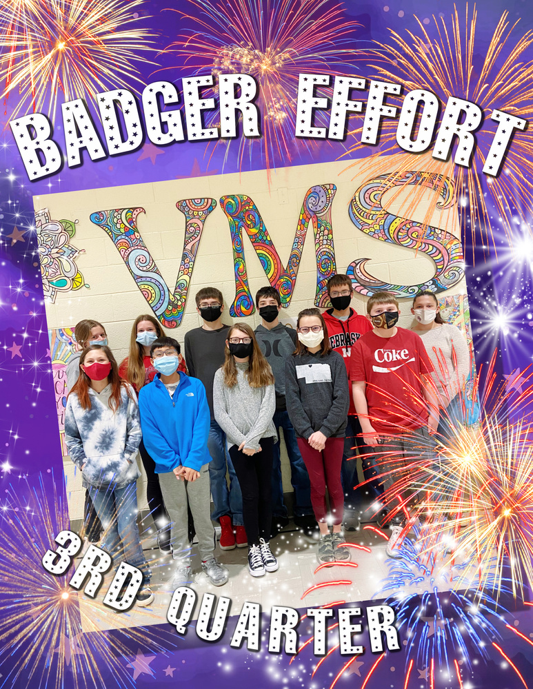 VMS 3rd Quarter Badger Effort Awards