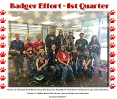 1st Quarter Badger Effort Awards at VMS
