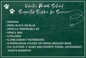 VMS Suggested School Supply List
