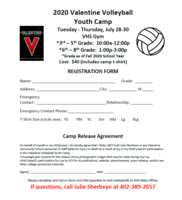 Youth Summer Volleyball Camp