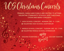VCS Christmas Concerts Scheduled