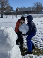 6th Grade Art Takes Advantage of the Perfect Snow!