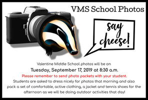 VMS School Photos Scheduled