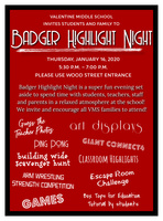 Badger Highlight Night Announced