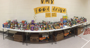 VMS Tops the Charts with Annual Food Drive