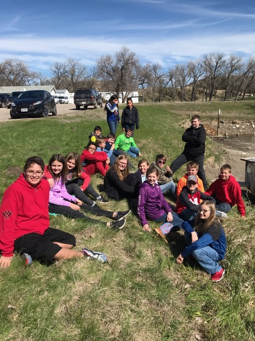 6th Graders Trout Release